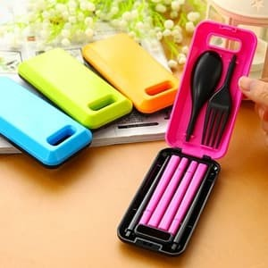 ... Peralatan Makan Travel Source · Sendok Garpu Sumpit Portable Set 3in1 Box Travelling Korean style