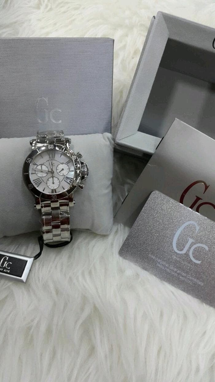 Guess Collection Gc Femme X73001m1s Chronograph Jam Tangan Wanita Cablechic Y18003l3 Stainless Silver Purple Rantai Origina