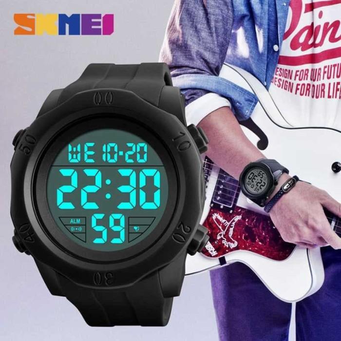 Jam Tangan Pria Karet Original Skmei Sport Anti Air Led Casio Digital -  Hitam 15c5b6c3c2