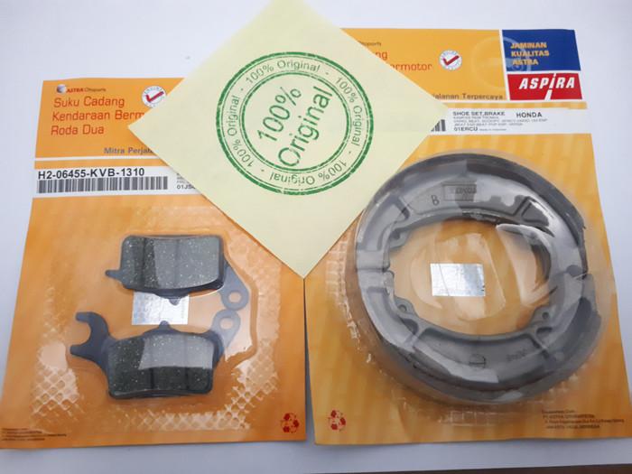 Foto Produk Paket kampas rem depan belakang vario 110 fi esp cbs asli aspira dari sinar jaya motors