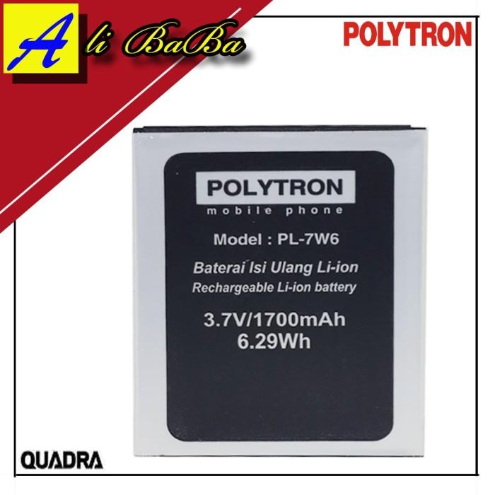 harga Baterai handphone polytron quadra v5 w7550 pl-7w6 battery polytron Tokopedia.com