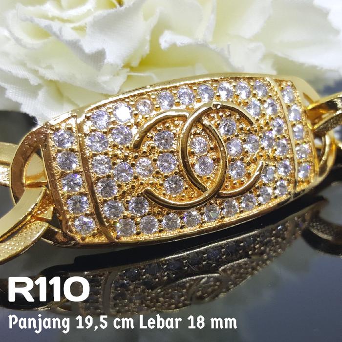 Gelang Chanel Earlita Store Source · R110 gelang chanel zirconia lapis emas perhiasan xuping