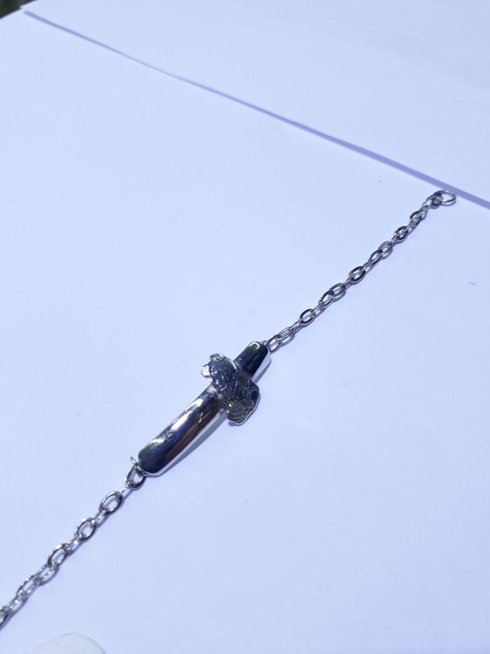harga Gelang rantai emas putih anak 75% berat 2.6 gram panjang 14 dan 14.5cm Tokopedia.com