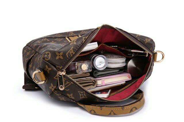 ... Tas Ransel Wanita  Woman Backpack - Louis Vuitton Squarely  f2212 -  Blanja.com c0dbb33850