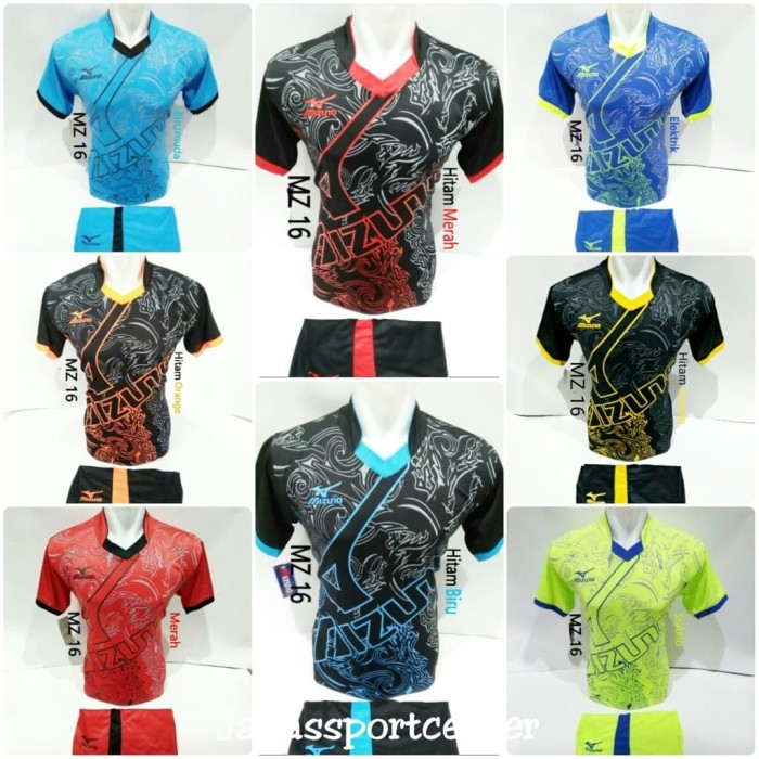 Jual Baju Volly Jersey Futsal Kaos Bola Setelan Olahraga Voli Mizuno ... 18837899fd