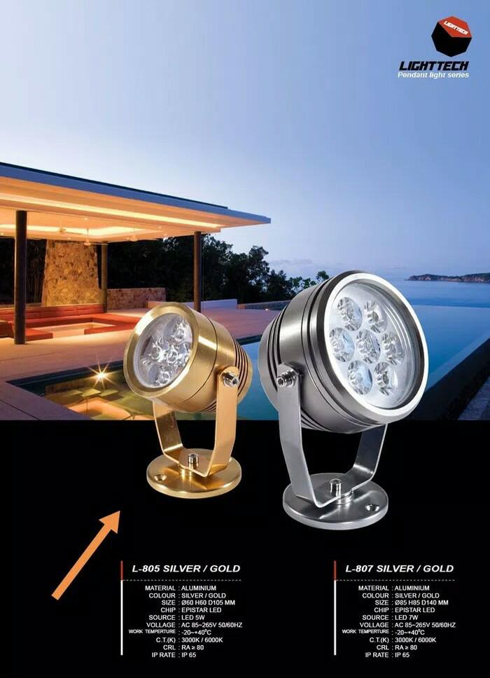harga L805 lampu sorot led 5w outdoor taman flood  waterproof tembak Tokopedia.com