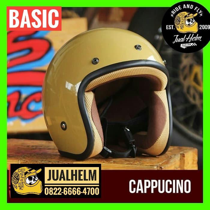harga Helm retro / helm classic / helm superbasic cappucino Tokopedia.com