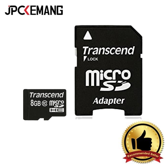 harga Transcend 8 gb class 10 microsdhc flash memory card Tokopedia.com