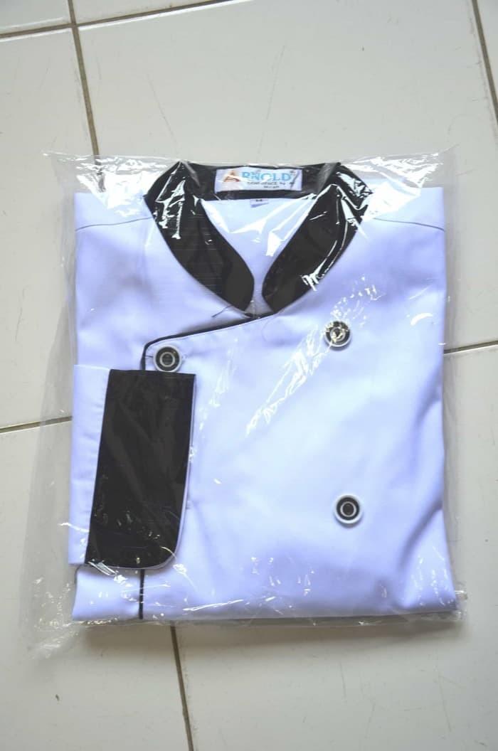 BAJU KEMEJA TERBARU Baju Koki Putih Lengan Panjang 2