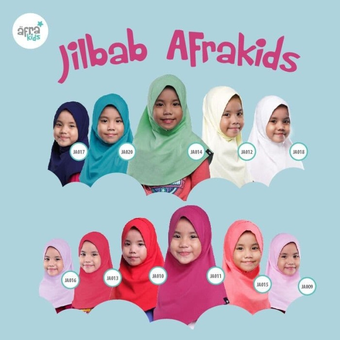 Foto Produk (Best Quality and Exclusive) Jilbab Anak AFRAKIDS Ukuran L/XL dari kyanostore