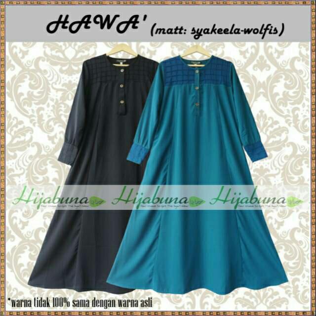 Foto Produk Gamis Hawa by Hijabuna Size XL dari Blossom Angel