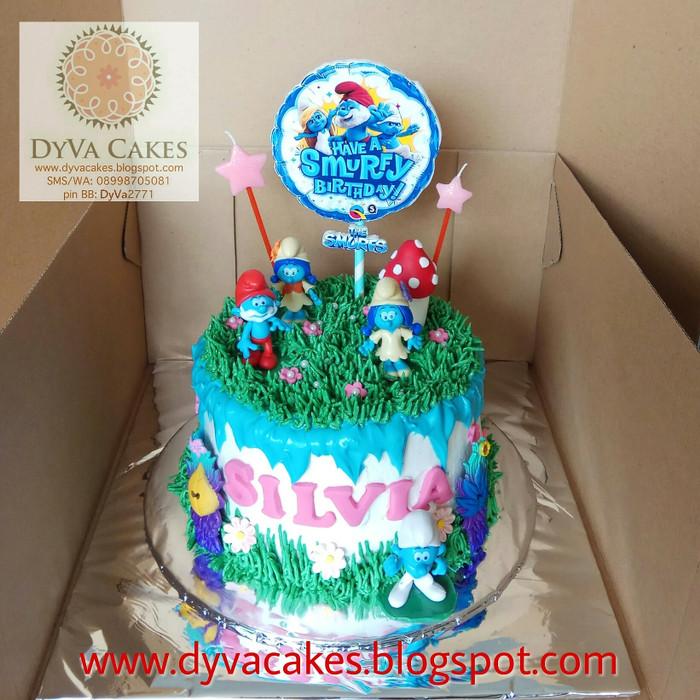 Magnificent Jual The Smurfs Birthday Cake Dia 16Cm Jakarta Barat Dyva Funny Birthday Cards Online Overcheapnameinfo