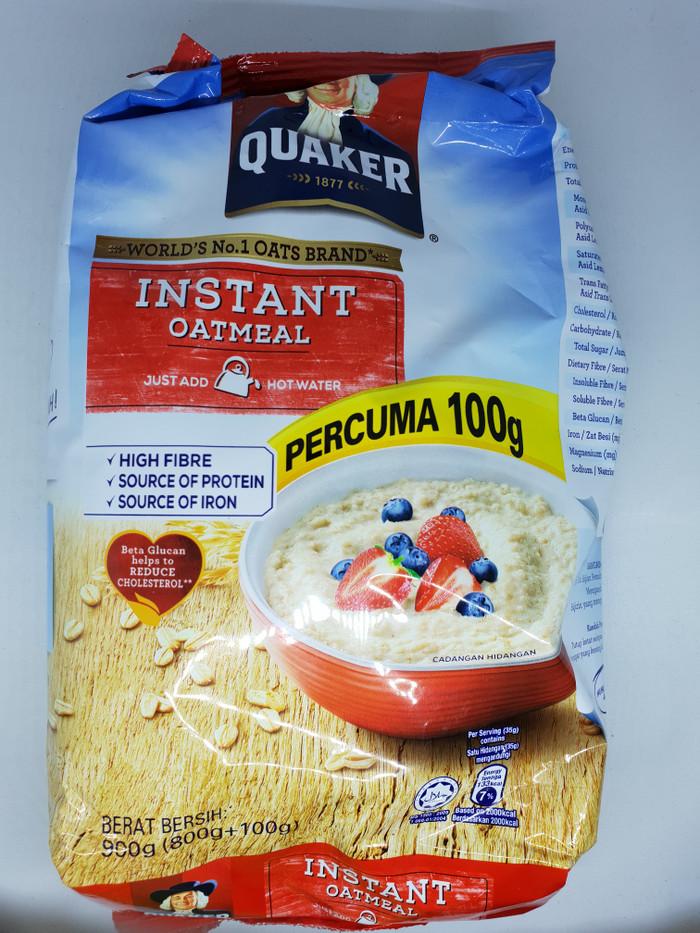 harga Quaker malaysia instant oatmeal sereal oat meal 800gr high fibre Tokopedia.com