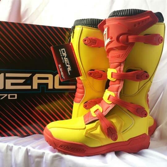harga Sepatu cross mx oneal element kuning original not alpinestarfoxthor Tokopedia.com