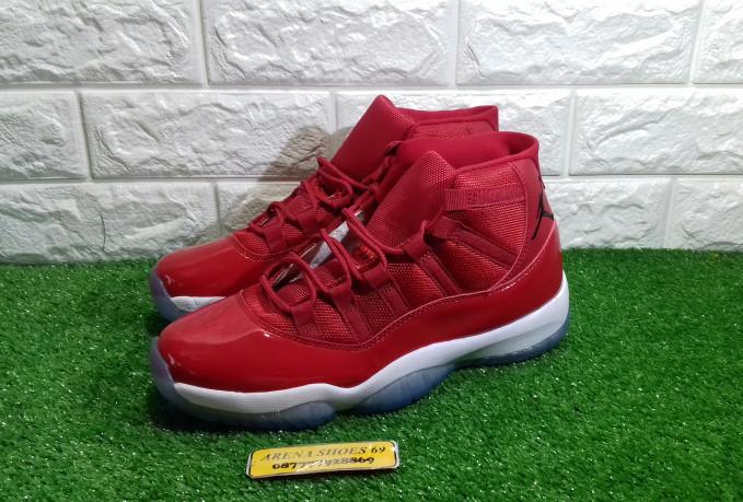 13fbc2c5167c24 Jual Sepatu Nike Jordan 11 Win Like 96 Gym Red - Premium Quality ...
