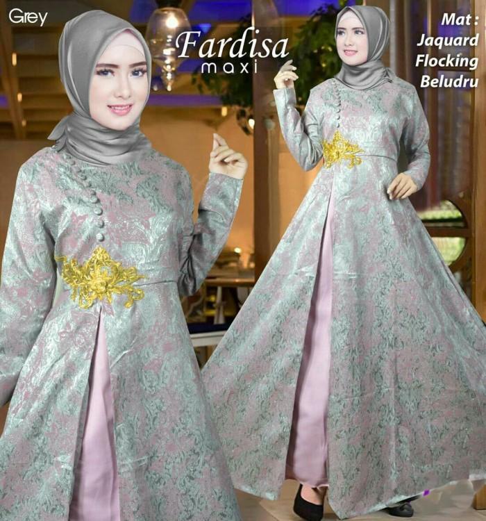Jual Baju Gamis Pesta Batik Modern Premium Remaja Farida Warna Abu Abu Grey Jakarta Pusat Amandashop99 Tokopedia