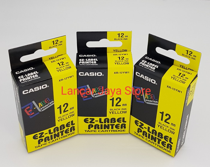 harga Label casio ez-label printer casio / tape cartridge xr-12yw1 kuning Tokopedia.com