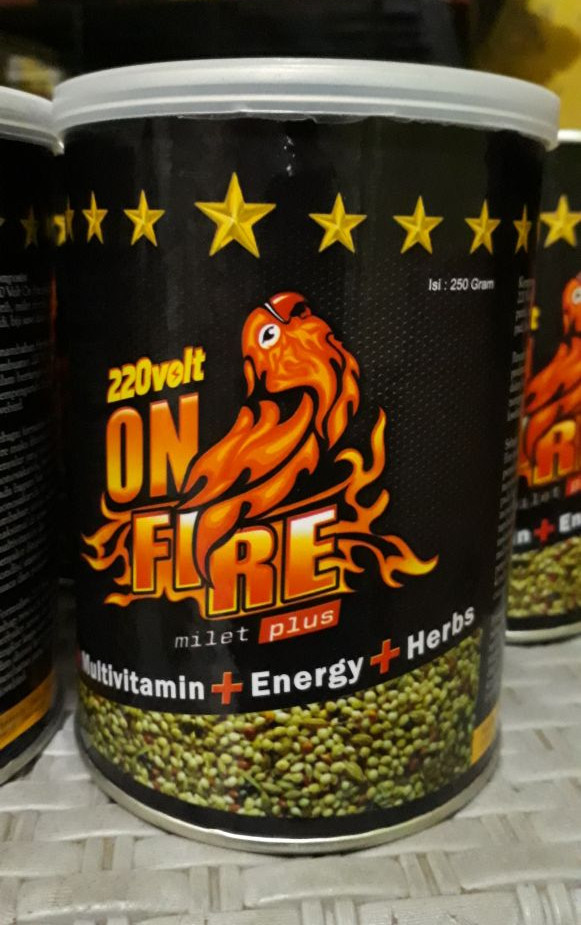 harga Makanan burung love bird 220 on fire Tokopedia.com