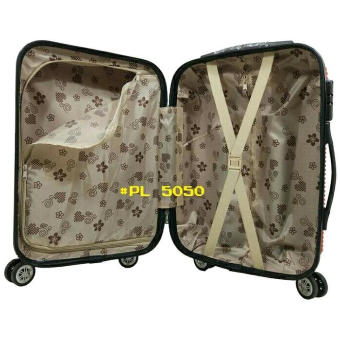 ORIGINAL Koper Travel Fiber Tas Pakaian Hard Case Polo Love 20 Inchi
