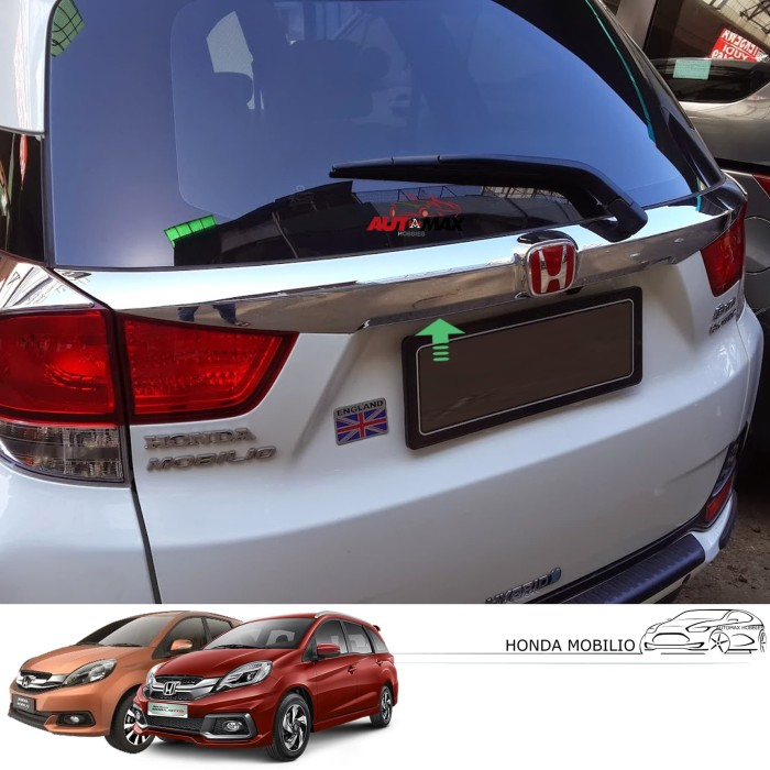 Jual Trunklid Full Chrome Honda Mobilio Model Type Prestige