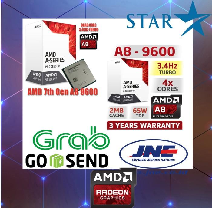 Jual AMD A8-9600 3 1Ghz Up To 3 4Ghz - Bristol Ridge APU (Socket AM4) - DKI  Jakarta - Alfa77   Tokopedia