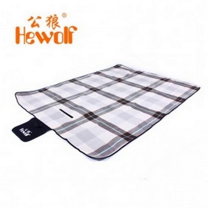 Hewolf Tikar Piknik Lipat Waterproof - Coffee