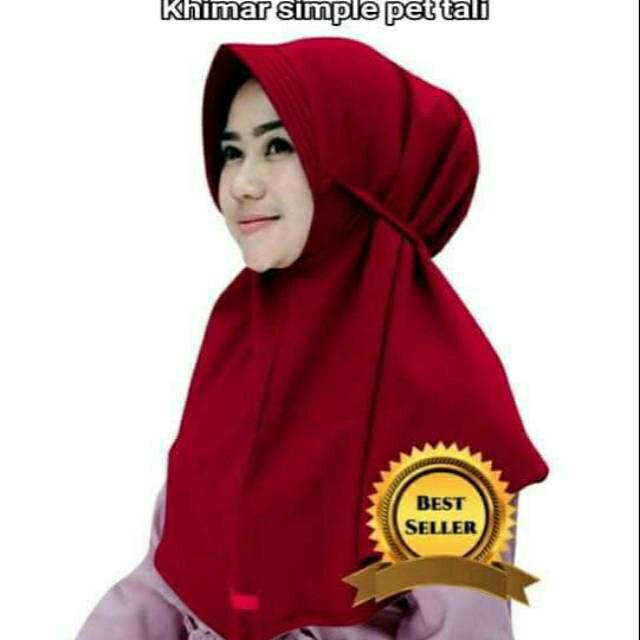 Jual Khimar Simpel Pet Tali Hijab Jilbab Bergo Kerudung Instan