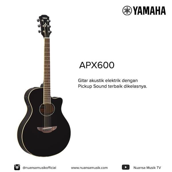 harga Gitar akustik elektrik yamaha apx600 / apx 600 - hitam Tokopedia.com