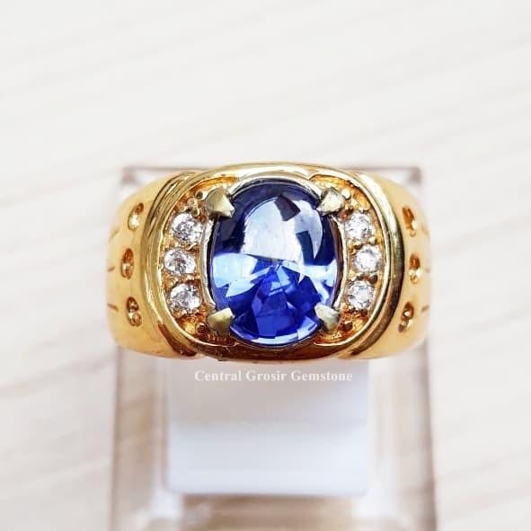 harga Cincin batu king sapphire royal blue color oval buff top Tokopedia.com