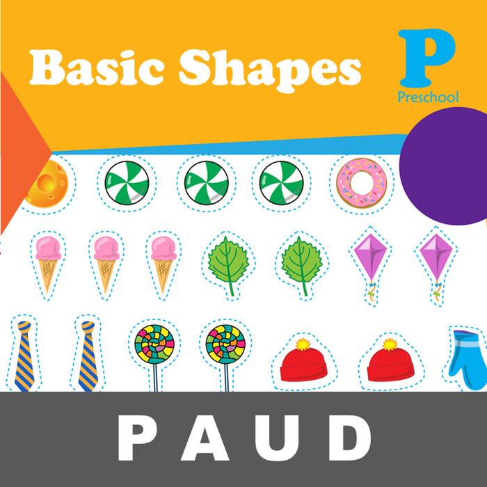 Jual Basic Shapes Buku Aktivitas Mengenal Gambar Mewarnai Anak Paud