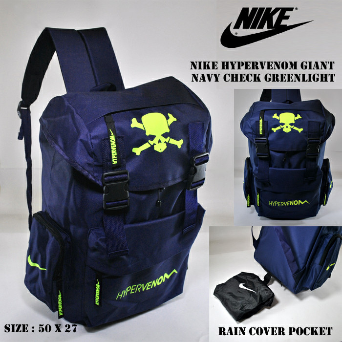 TAS RANSEL NIKE HYPERVENOM GIANT NAVY CHECK GREENLIGHT GROSIR MURAH