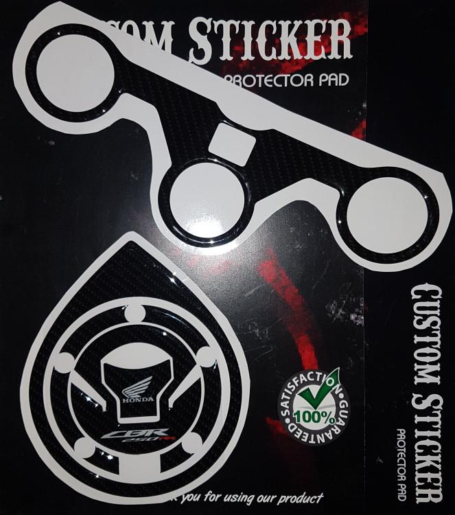 Foto Produk Stiker CBR 250 RR NEW FACELIFT Segitiga pad Fuelpad Tankpad cbr timbul dari Sticker Protector pad