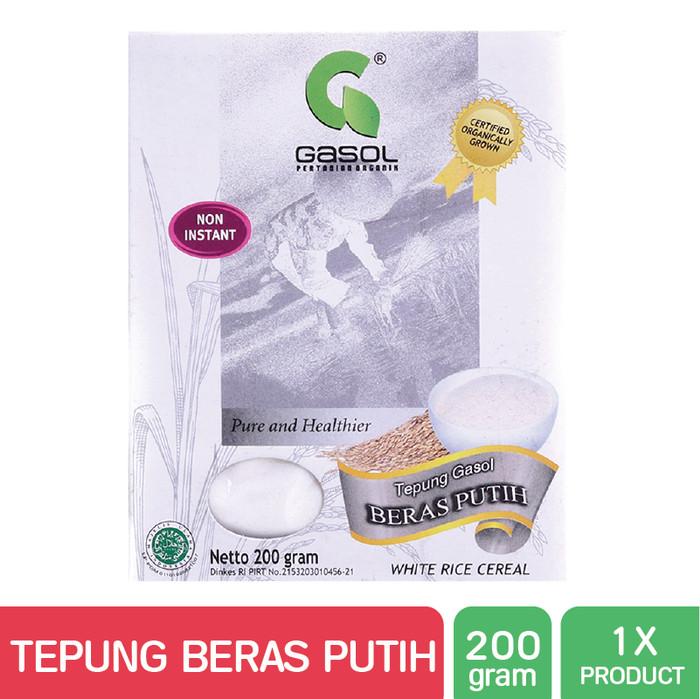GASOL Organik Tepung Beras Putih 200Gr / 200 Gr / Makanan Bayi