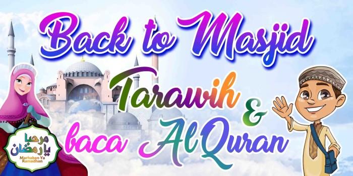 Spanduk I Banner Ramadhan Ceria Moslem Kids
