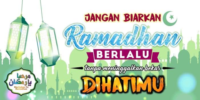 Promo Spanduk I Banner Ramadhan Ceria Islamic