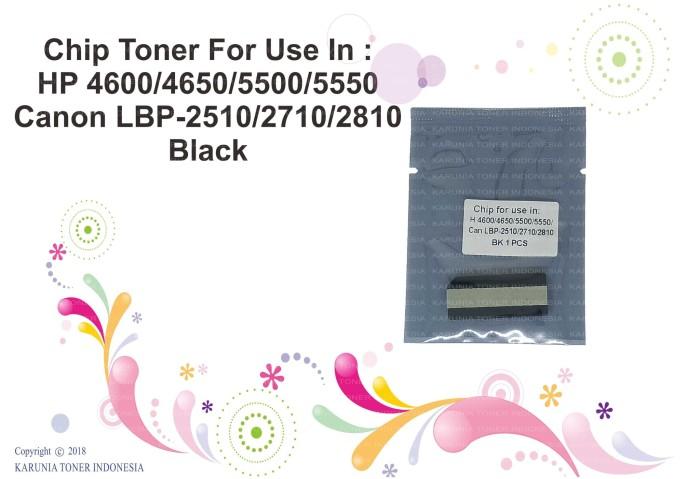 harga Chip toner for use in hp 4600/4650/5500/5550 can lbp-2510/2710/2810 bk Tokopedia.com