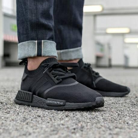 b11431e82eec6 Jual Adidas NMD R1 Japan Full Black For Man Premium - Kota ...