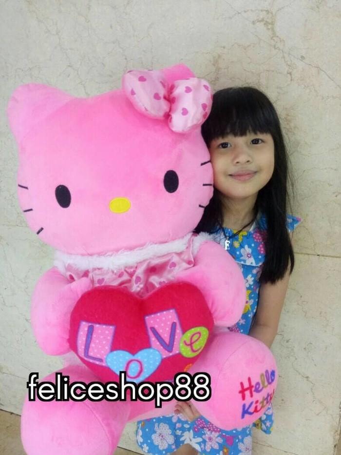 Jual (Star Product) boneka hello kitty besar jumbo love - gudang ... dffffa0c7c