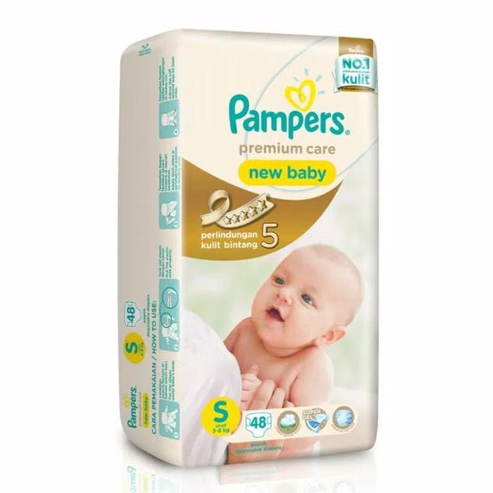 Pampers Premium Care Popok Perekat Tape S 48 pcs