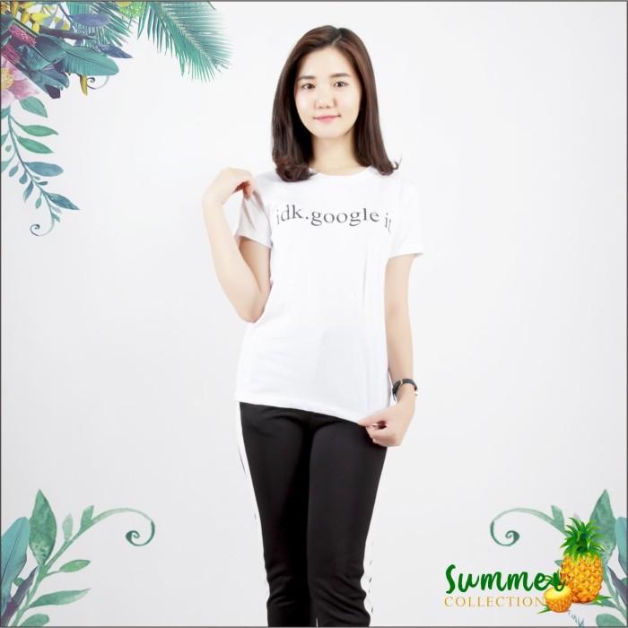 harga Ada fashion lengan pendek kaos wanita motif tulisan warna putih - putih l Tokopedia.com