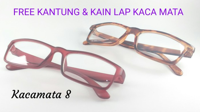 Jual KACA MATA FRAME KOTAK WANITA - Merah - Kacamata 8  7c04c138c2