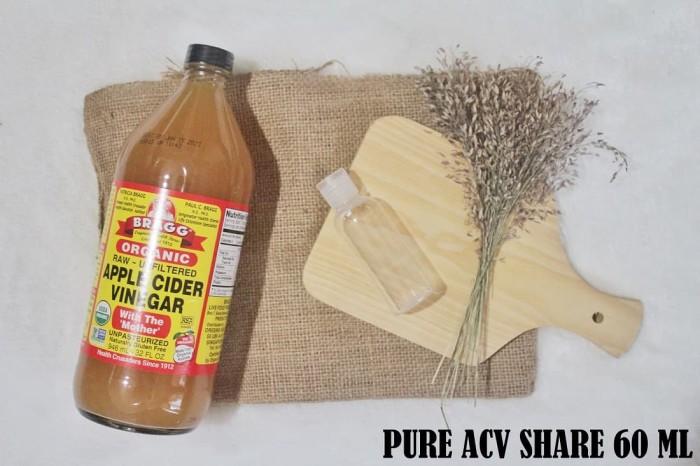 (Share 60ml) Cuka Apel/Apple Cider Vinegar (ACV) Bragg PURE/MURNI
