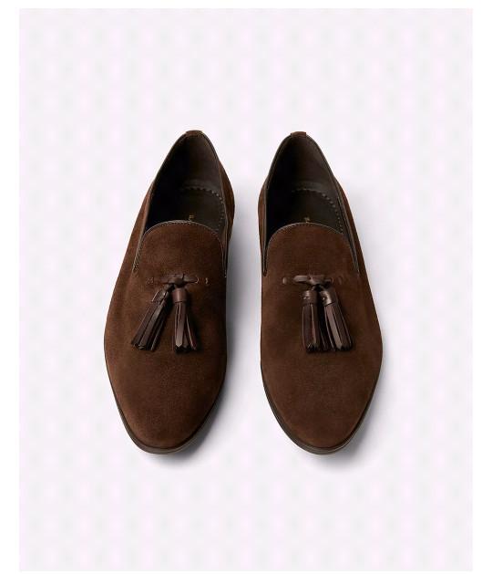 4e35e1a4 Jual ZARA MAN soft tassel loafers - Cokelat Tua, 45 - Kota Tangerang ...