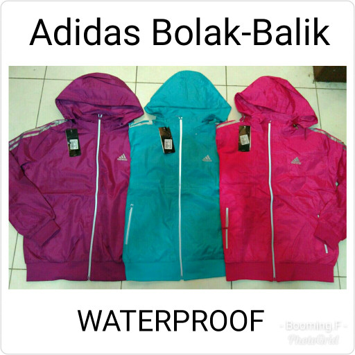 harga Jaket adidas parasut bolak balik_ anti air (waterproof) Tokopedia.com