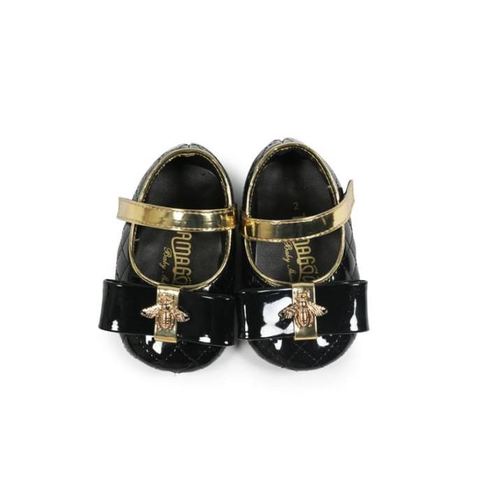 Sepatu prewalker baby shoes perempuan tamagoo - charlotte black murah - 3-6  bulan 7a82154e2b
