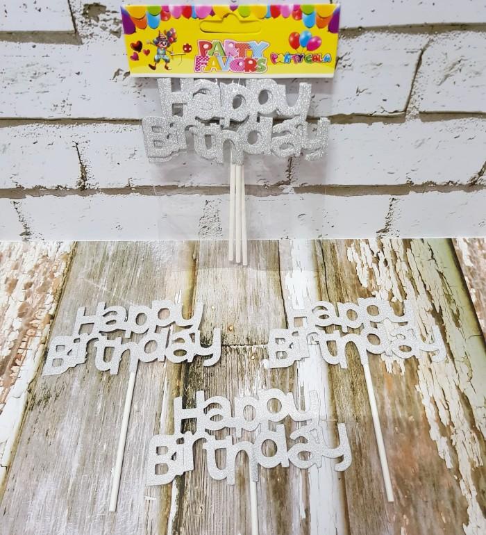 TOPPER CAKE HAPPY BIRTHDAY/ CAKE TOPPER HAPPY BIRTHDAY/ HIASAN KUE HBD