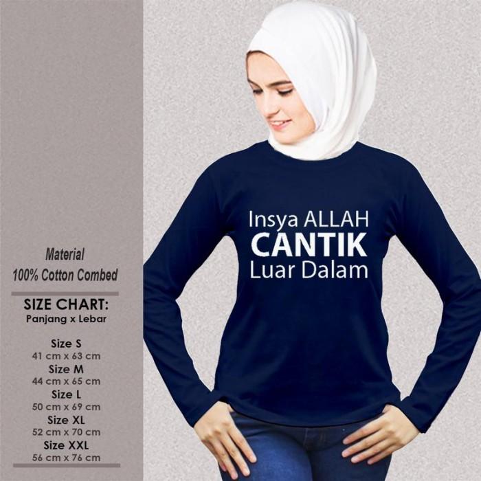 Jual Kaos Muslim Wanita Sp Wlmsak368 Insya Allah Cantik Luar Dalam