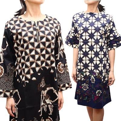 Batik wanita dress tunik blouse batik kemeja atasan kantor blus korea