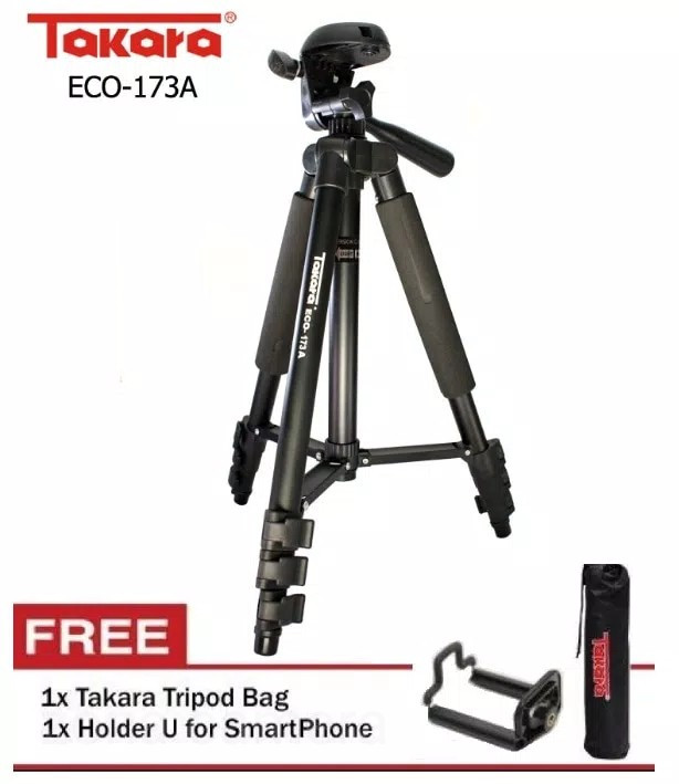 harga Tripod takara 173a promo bag + holder hp handphone tripod camcorder Tokopedia.com