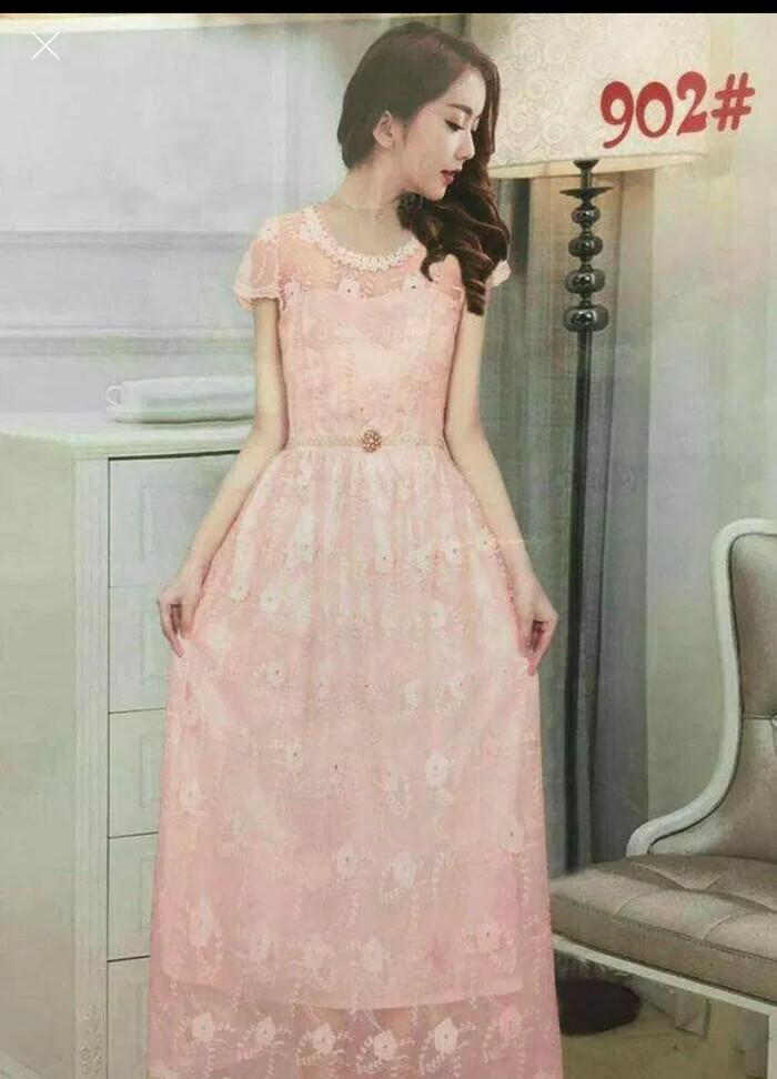 Jual Maxi Dress Gaun Pesta Panjang Bridesmaid Baju Pesta Korea Dki